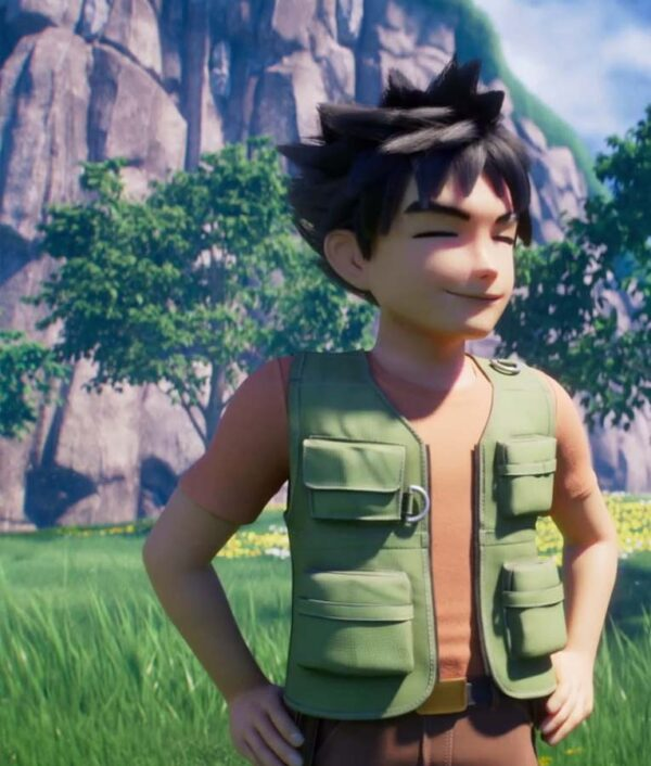 Brock Takeshi Pokemon Green Cotton Vest