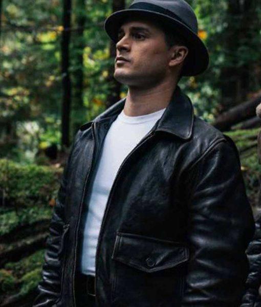 Captain Michael Quinn TV Series Project Blue Book S02 Black Leather Jacket