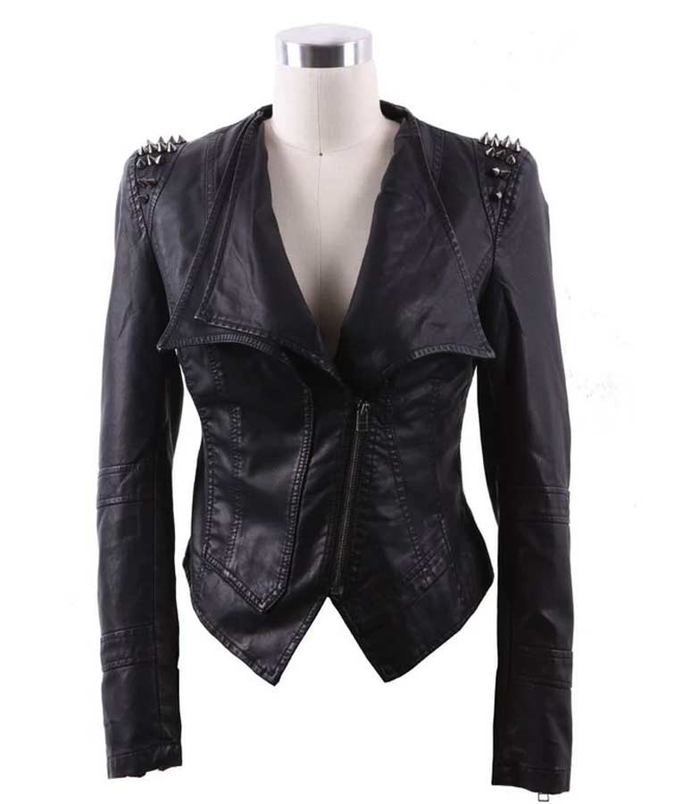 Real Housewives of Potomac S05 Black Leather Jacket