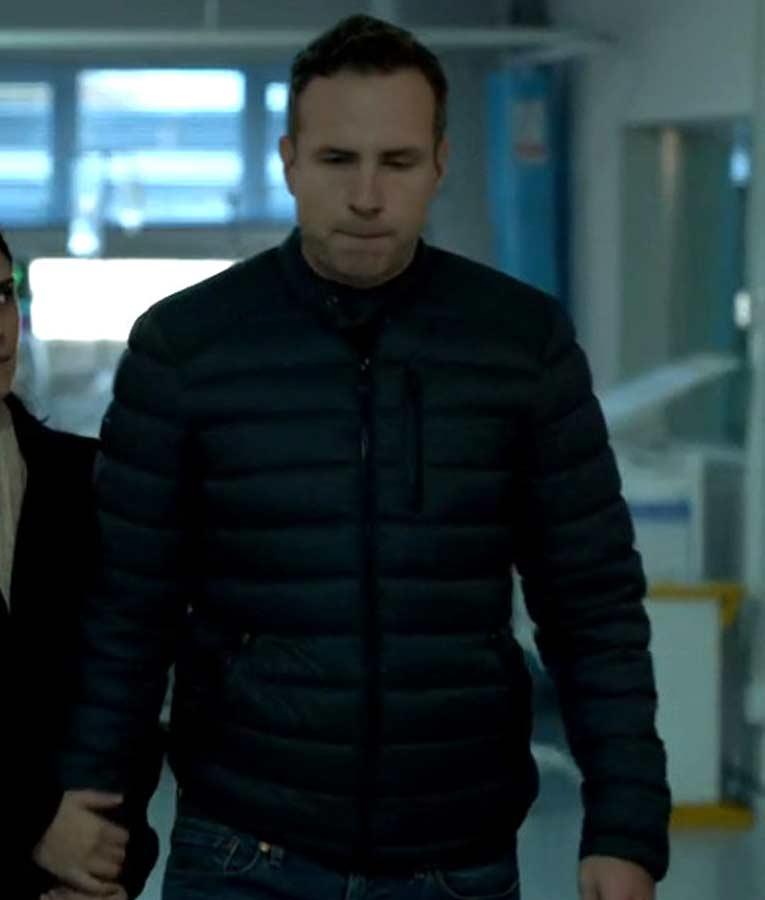 Rafe Spall The Salisbury Poisonings DS Nick Bailey Puffer Jacket