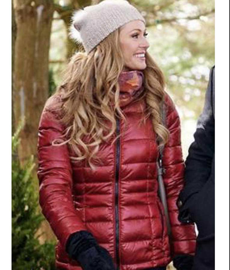 Allie Maroon Puffer The Santa Squad Rebecca Dalton Jacket