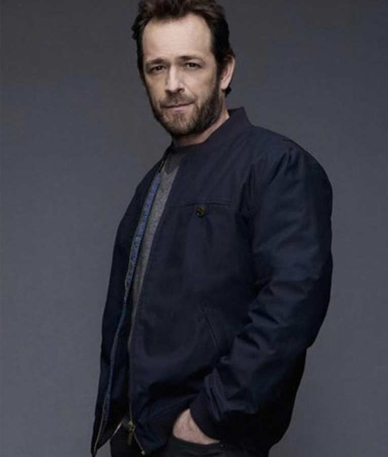 Luke Perry Riverdale Fred Andrews Blue Cotton Jacket