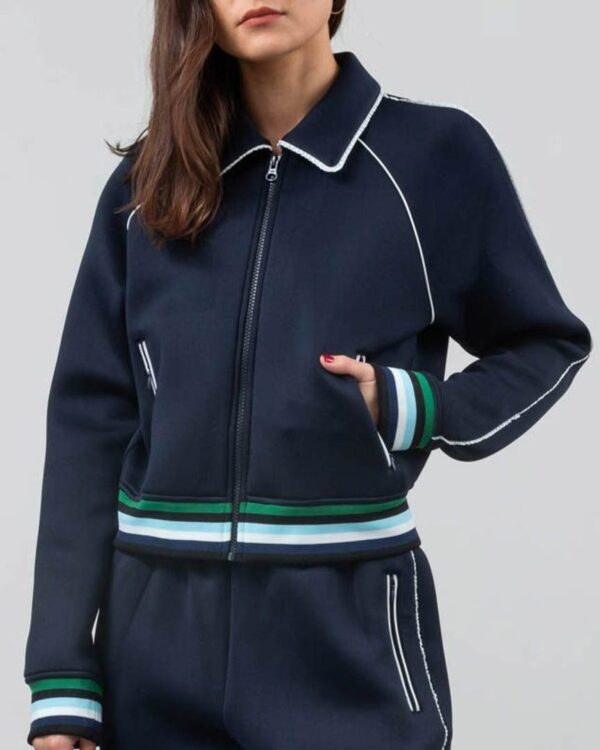 Betty Cooper Riverdale Season 4 Lili Reinhart Navy Blue Track Jacket
