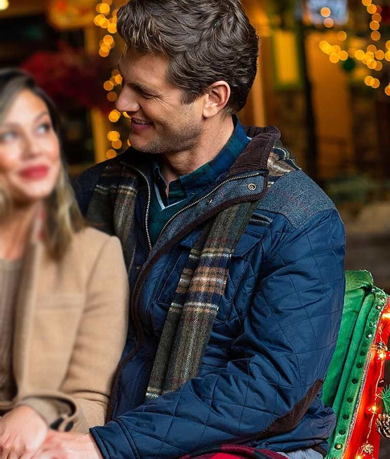 Once Upon A Main Street Ryan McPartlin Blue Quilted Jacket