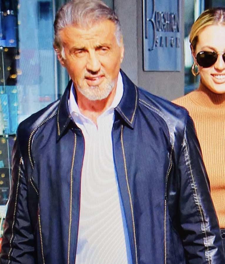 Sylvester Stallone Samaritan 2021 Stanley Kominski Blue Jacket