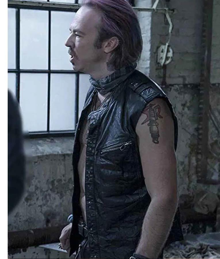 Sense8 Kick Gurry Balck Leather Vest