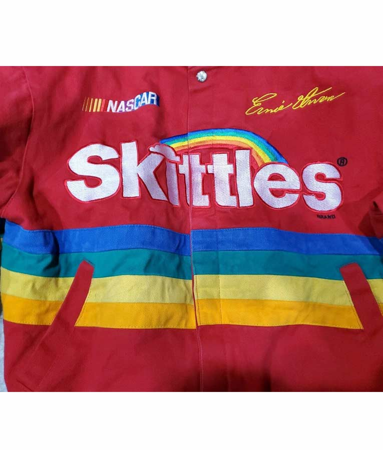 Skittles Racing Red Bomber Style Jacket