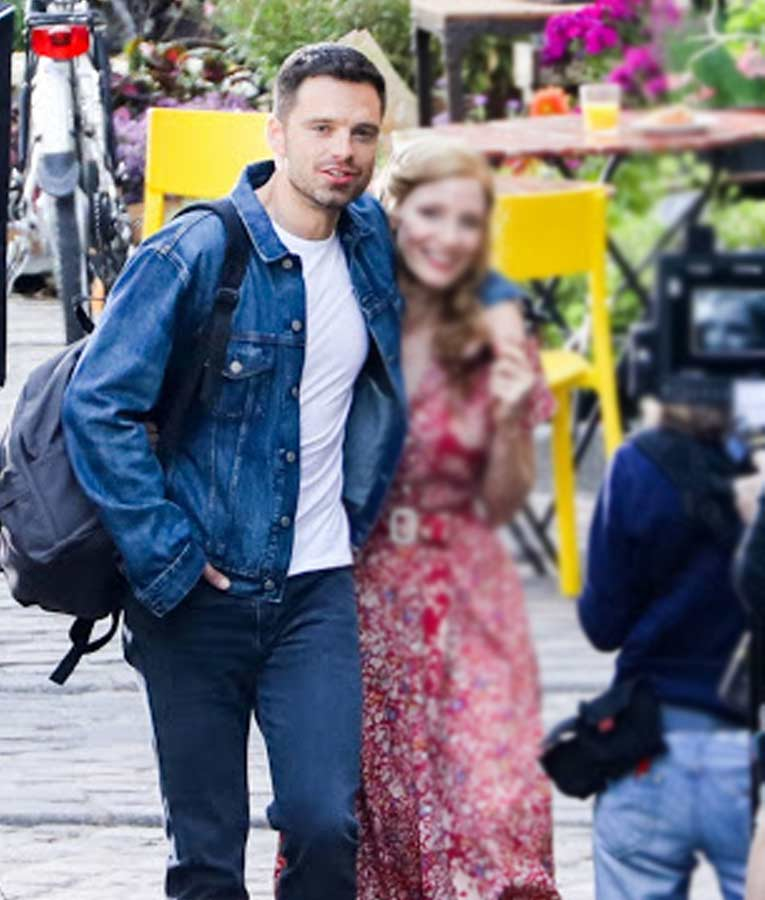 The 355 Sebastian Stan Blue Denim Jacket
