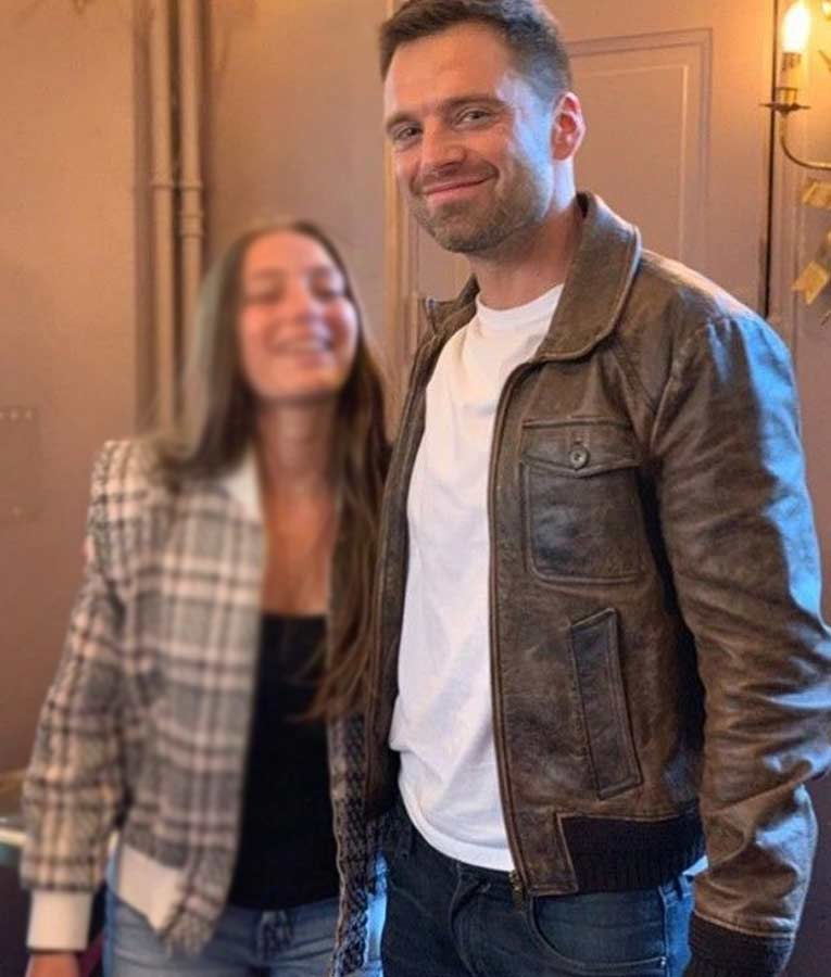 Sebastian Stan The 355 Brown Leather Jacket