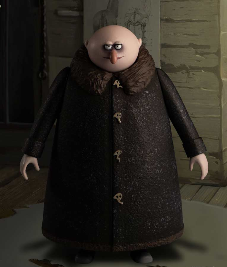 Uncle Fester The Addams Family 2 Fur Collar Coat