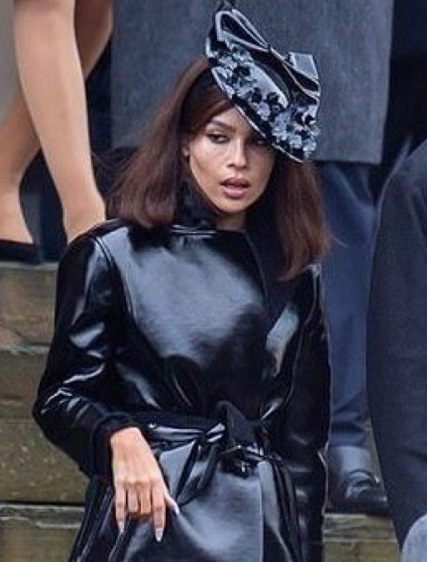 Selina Kyle The Batman 2022 Zoë Kravitz Black Leather Coat