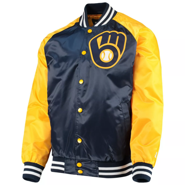 Milwaukee Brewers The Lead Off Hitter Full-Snap Bomber Jacket