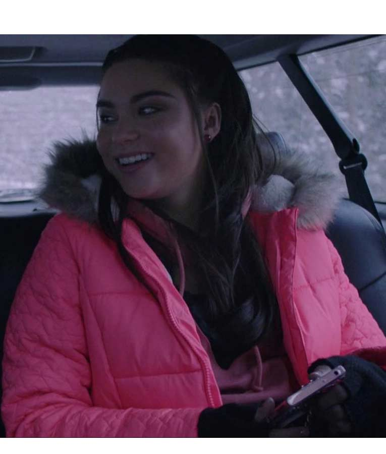 The Lie Britney Pink Parka Devery Jacobs Puffer Jacket