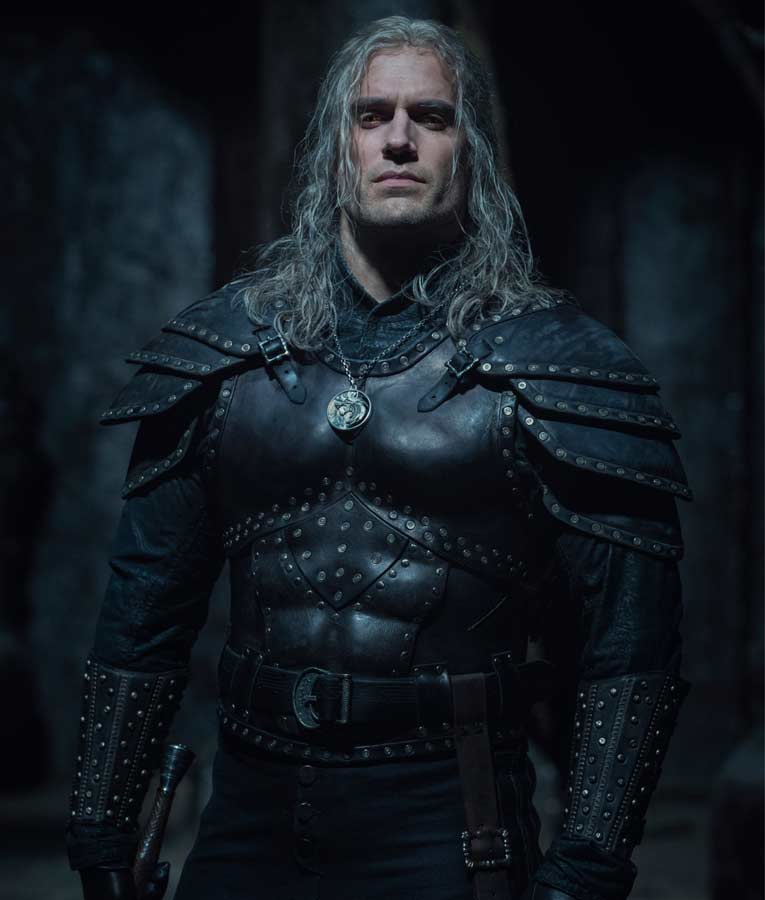 Geralt Of Rivia The Witcher Season 02 Henry Cavill Black Leather Jacket
