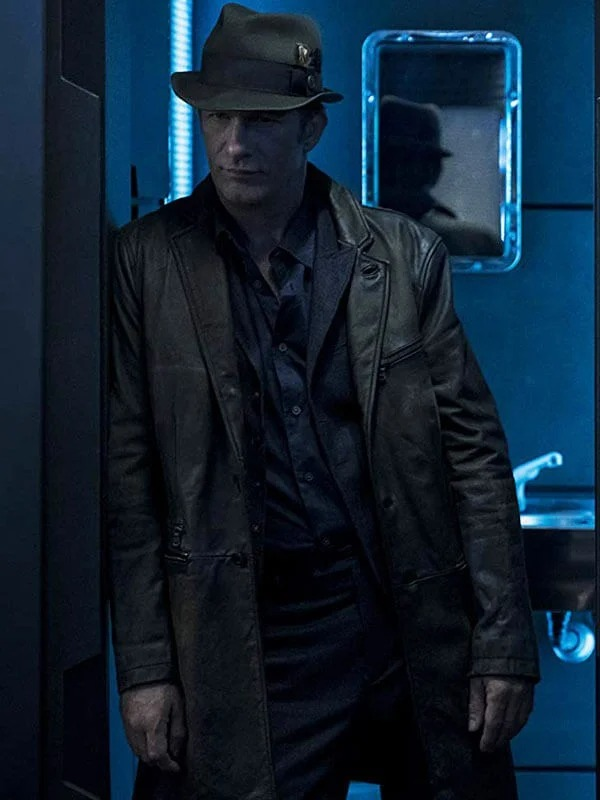 Thomas Jane The Expanse Joe Miller Brown Leather Coat