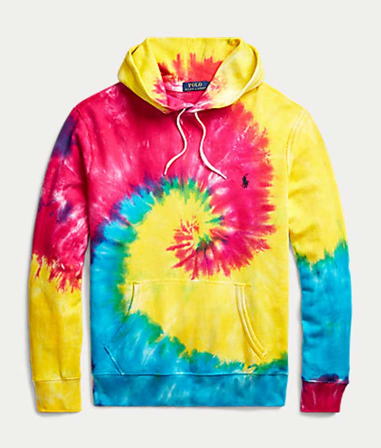 Rainbow Tie Dye Unisex Pullover Hoodie for Sale