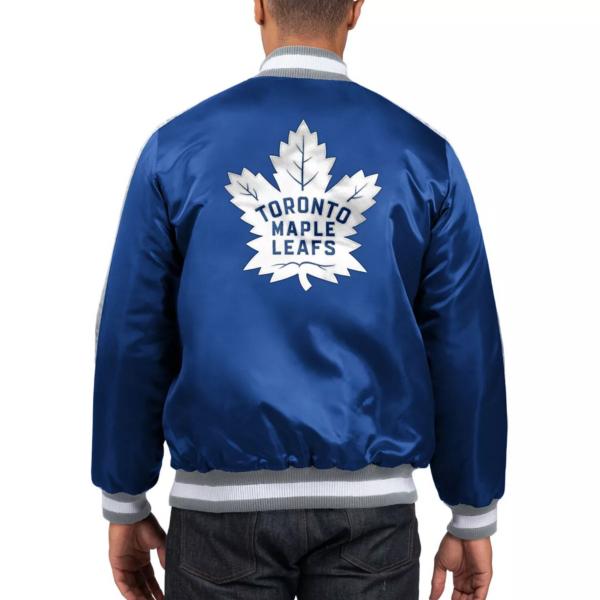 Blue Varsity Toronto Maple Leafs Full-Zip Bomber Jacket