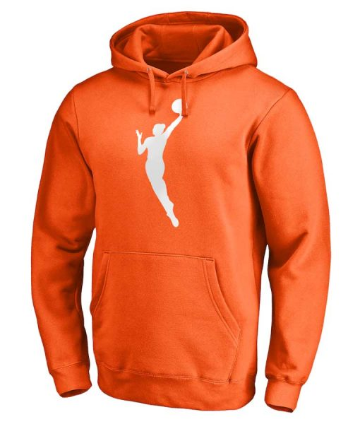 NBA WNBA Logo Unisex Pullover Orange Hoodie