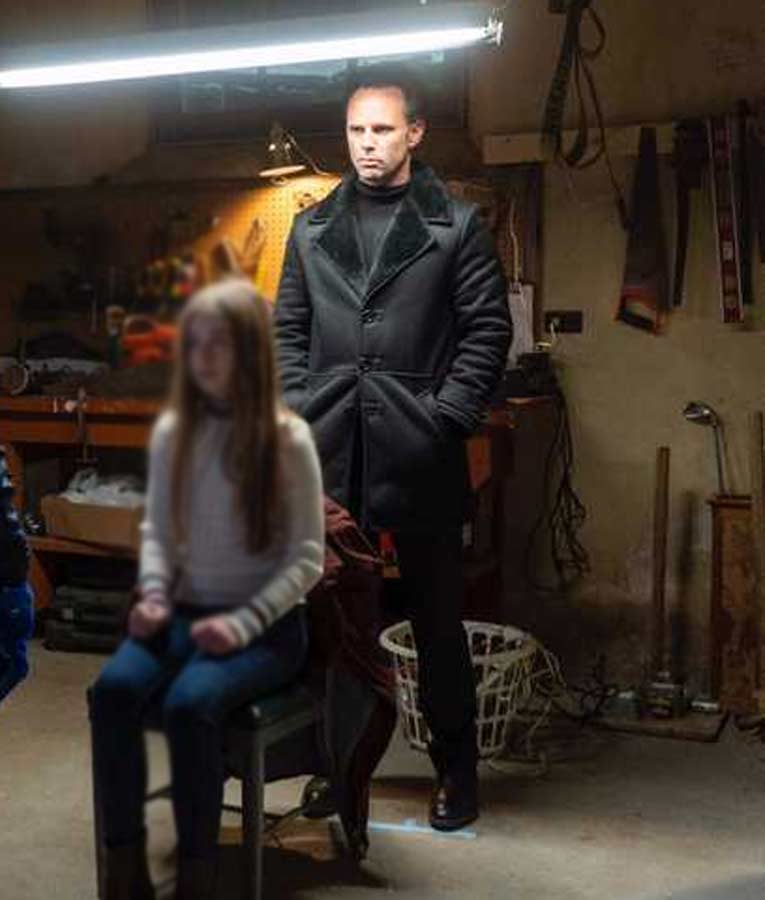 Walton Goggins Fatman Skinny Man Leather Coat