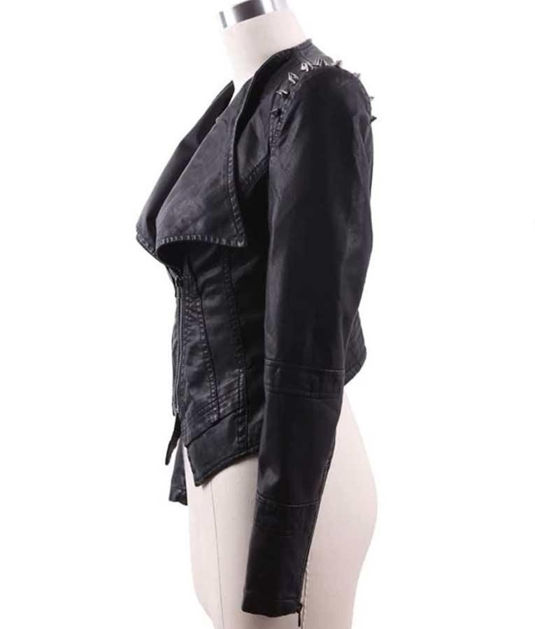 RHOP Season 05 Wendy Osefo Studded Leather Jacket