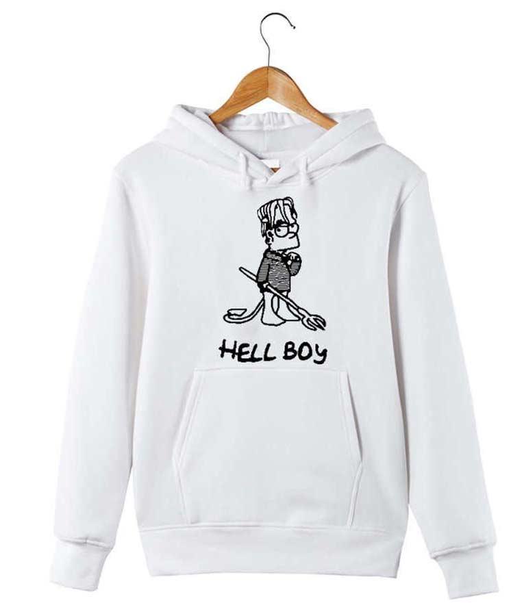 Yellow Lil Peep Hellboy Hoodie