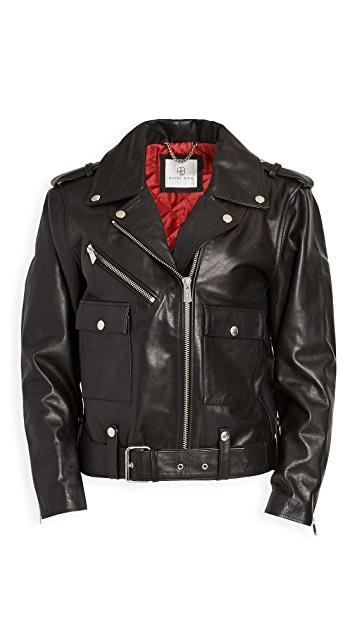 Black ANINE BING Moto Leather Jacket