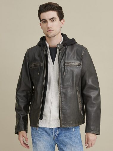 Alan Leather JA Jacket with Hood