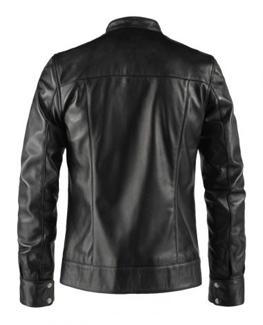 Red Stripe Leather Jacket