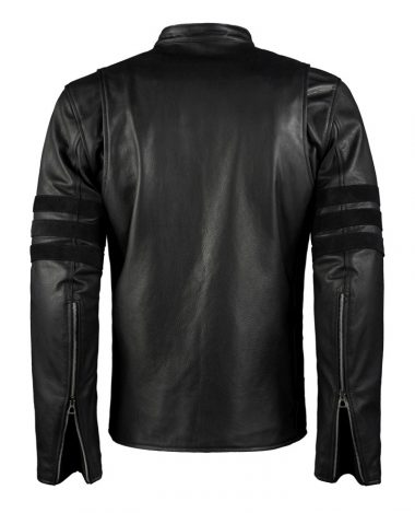 Logan Mens Black Biker Leather Jacket
