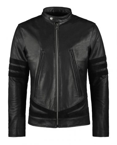 Logan Mens Biker Leather Jacket