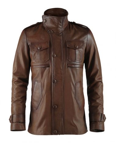 Men Brown Stylish Leather Jacket
