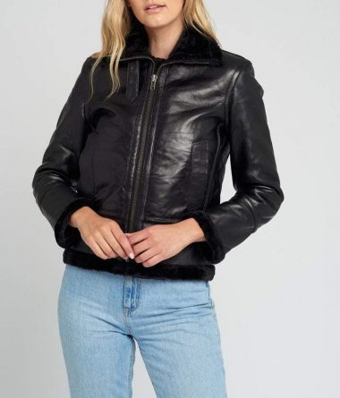 Women-Black-Fur-Shearling-Jacket-006