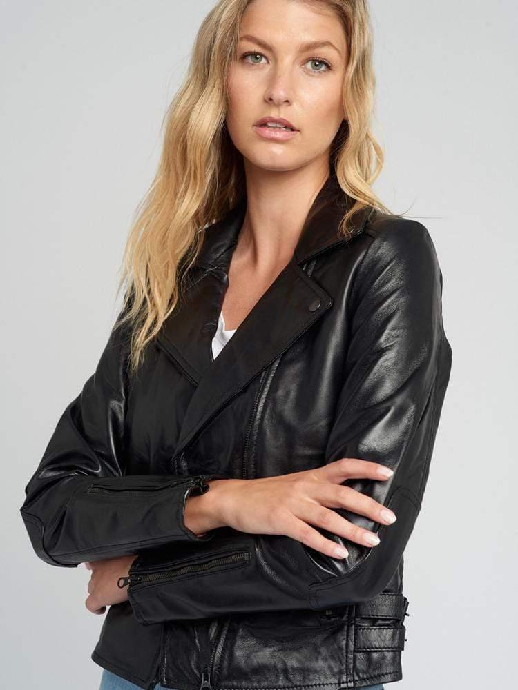 Women-Black-Hardware-Moto-Leather-Jacket-005
