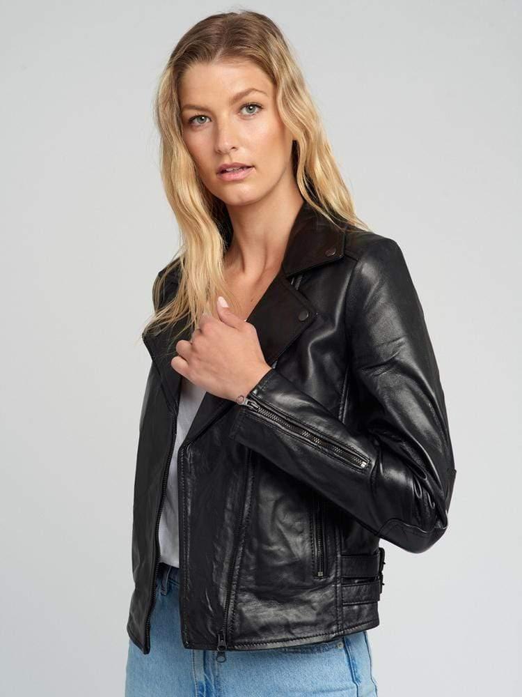 Women-Black-Hardware-Moto-Leather-Jacket-006